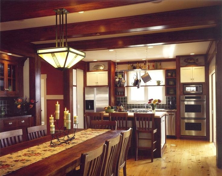 Dining Table Mission Style Oak Dining Table And Chairs Kitchen Craftsman  Arts Crafts Ceiling Room Furniture