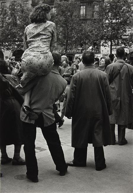 """Paris 14 juillet 1954 """"Champs Elysées"""" by Gisèle Freund"""