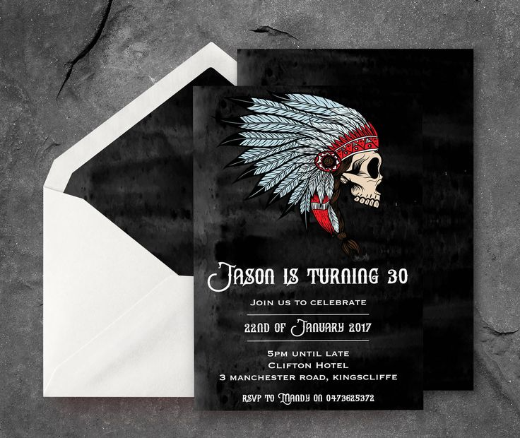 Mens Skull 30th Birthday Invite, Mens 30th Party Invitation, 30th Skull Invitation, Mens 30th Birthday Invitation, Mens 30th Party Invites by PennyLaneStationery on Etsy