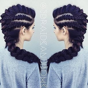 I bet I could do this with the help of some extensions. It'd be a fun look for a night out.