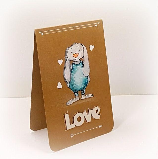 "http://tworyflory.blogspot.com/ Handmade birthday card. Papelia.pl stamp ""Tumek""."