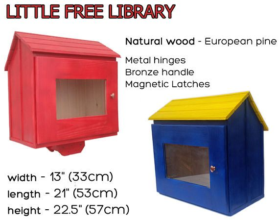 Custom little free library Wooden Library Mini library