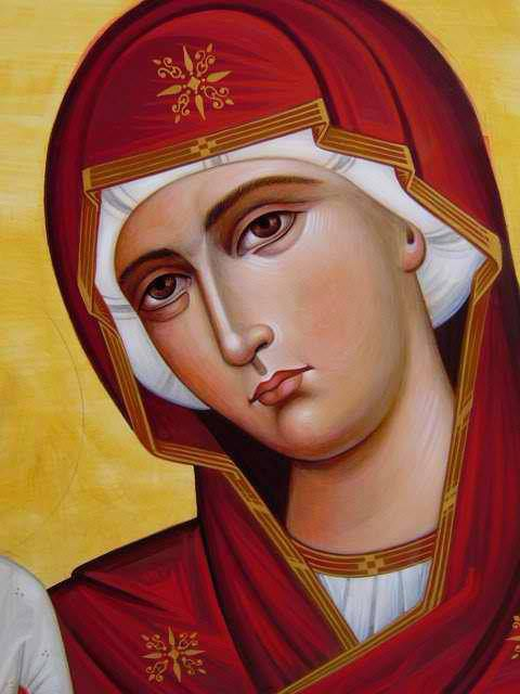 http://pinterest.com/Anastpaul/ave-maria/ Detail ...Orthodox icon