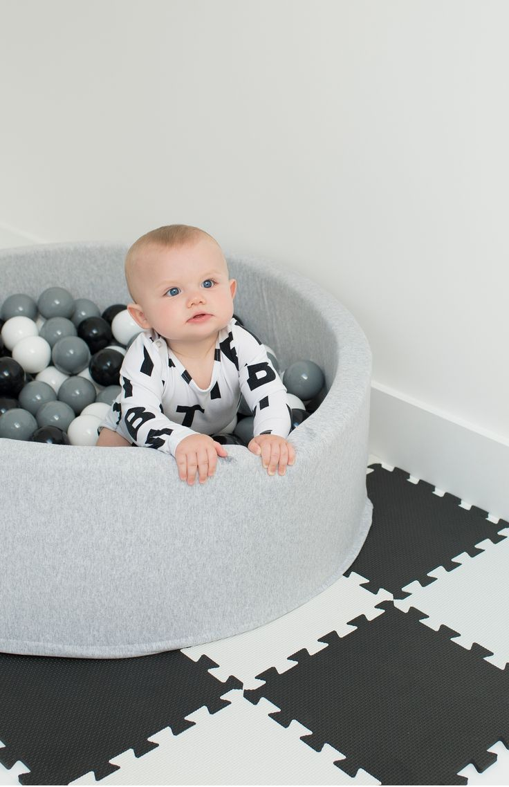 buy your kid an all-grey ball pit because god forbid there be any stimulating bright colours
