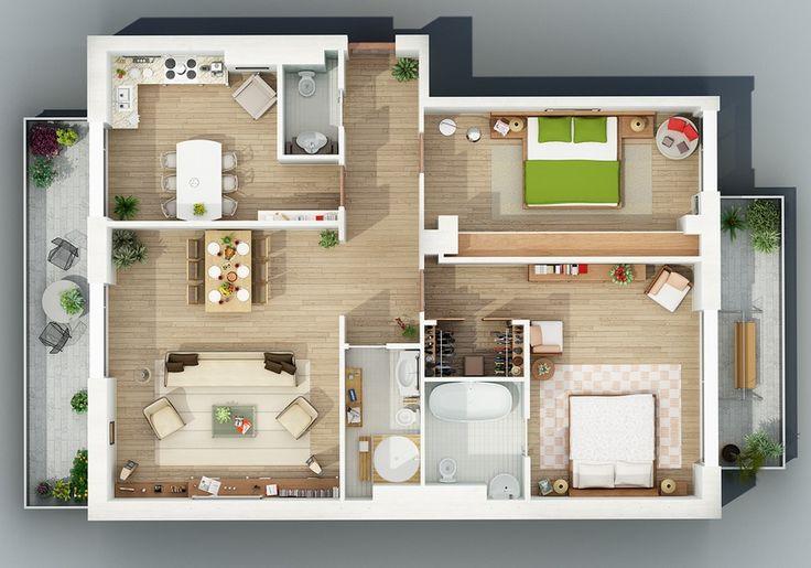 Selección de50 planos de departamentos de dos dormitorios, han sido diseñados para terrenos de diferentes formas y dimensiones de tal forma que sirva de inspiración para los que deseen construir o…
