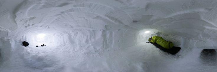 Norway: 130403 Hardanger Halne snow hole