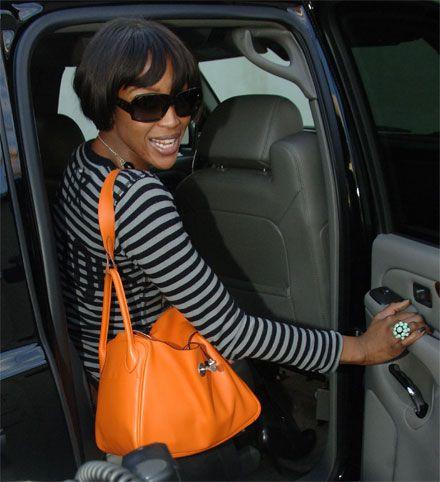 Naomi Campbell Style: Hermes Lindy Handbag