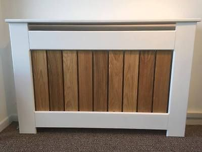 Modern MADE TO MEASURE Radiator Cover with OAK SLATS