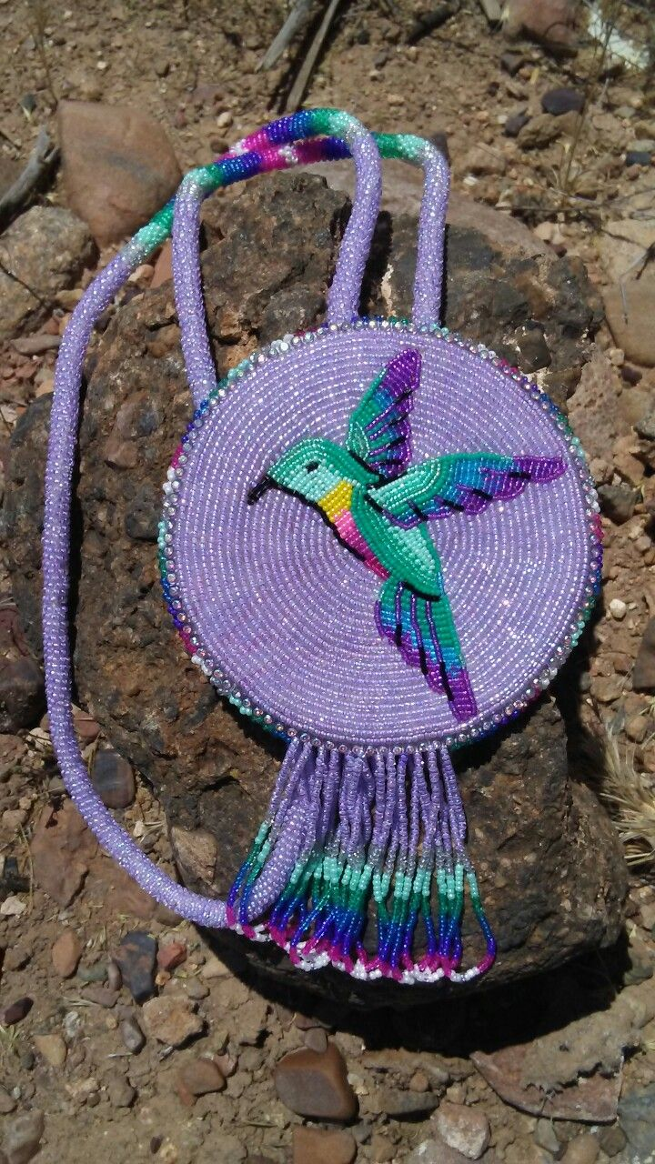 My First Beaded Hummingbird Medallion My Beadwork