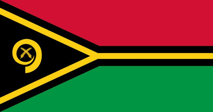 Flag of Vanuatu (official)//Vanuatu officially the Republic of Vanuatu (French: République de Vanuatu, Bislama: Ripablik blong Vanuatu), is a Pacific island nation located in the South Pacific Ocean. The archipelago, which is of volcanic origin, is some 1,750 kilometres (1,090 mi) east of northern Australia, 540 kilometres (340 mi) northeast of New Caledonia, east of New Guinea, southeast of the Solomon Islands, and west of Fiji.