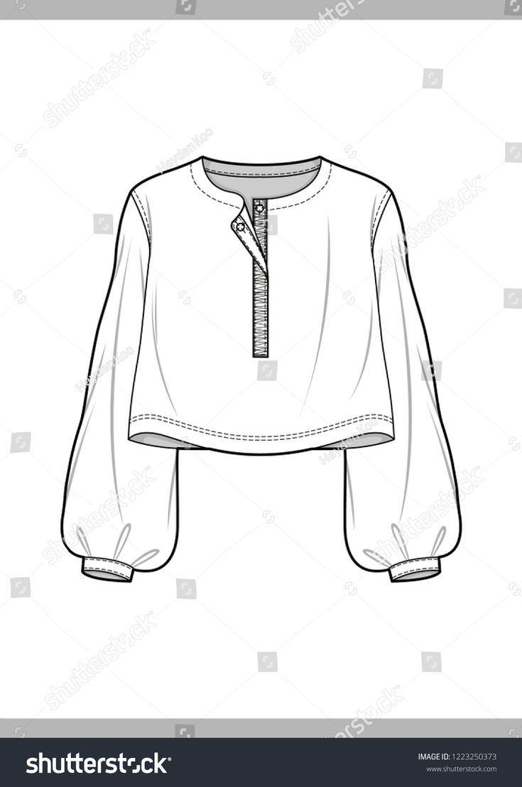 Alle Der Neuen Bluse Mode Technische Zeichnungen Vektor Vorlage Www Etsy Com Bluse Technis Clothes Illustration Clothes Design Fashion Design Template