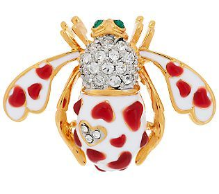 Joan Rivers Choice of Hearts or Shamrocks Bee Pin
