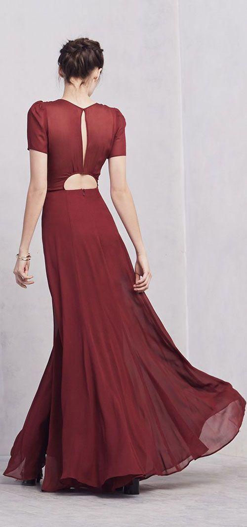 looking chic in Marsala ,Pantone's 2015 Color of the Year
