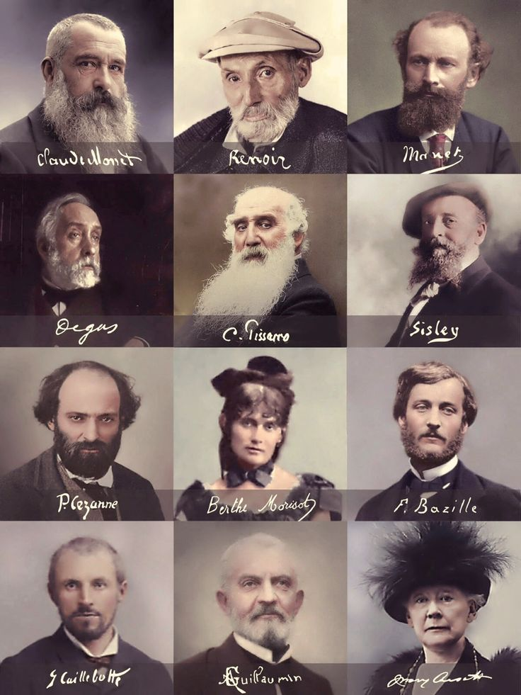 French Impressionists and their signatures.