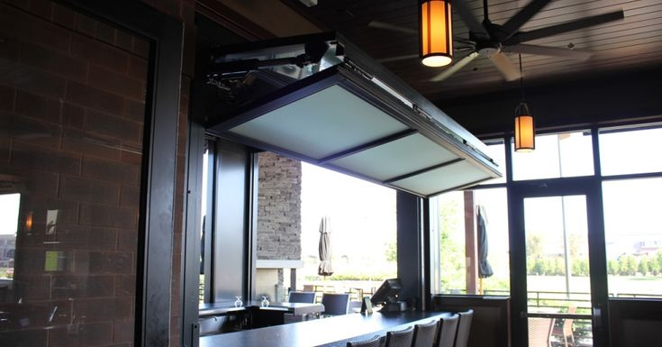 Bifold Door Over Counter Top At Granite City Brewery In