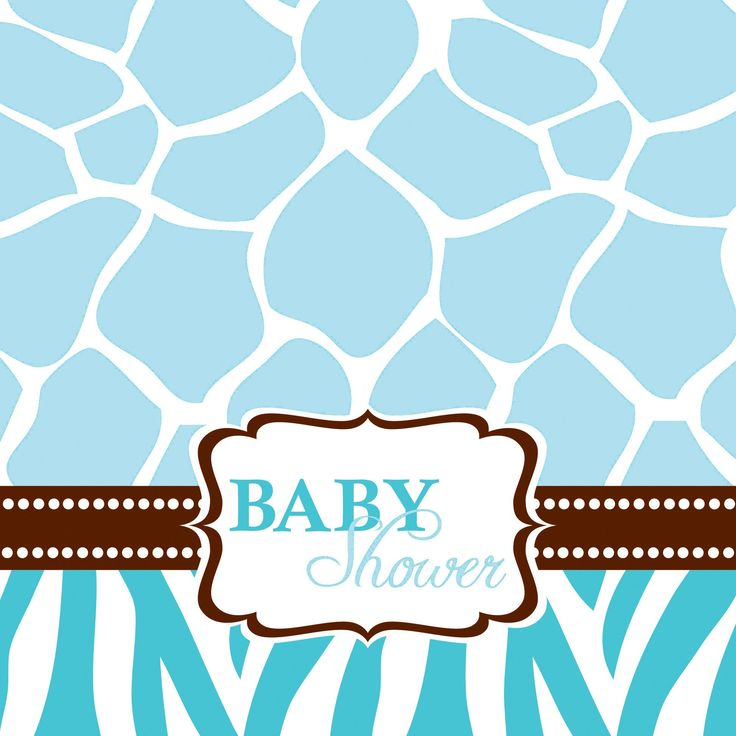 These Wild Safari Blue Baby Shower Beverage Napkins Feature Baby Safari  Giraffes In Blue And White