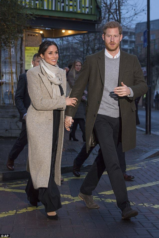 Partner look: The Prince has been snapped in more neutral coloured ensembles and even coor...