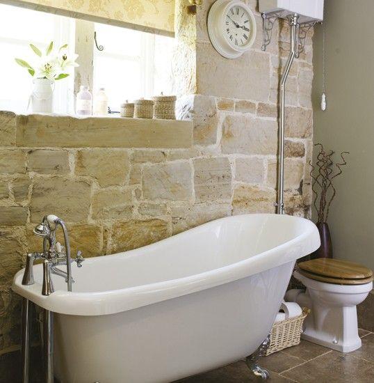 Traditional bathroom   Bathroom idea   Roll-top bath   Image   Housetohome.co.uk