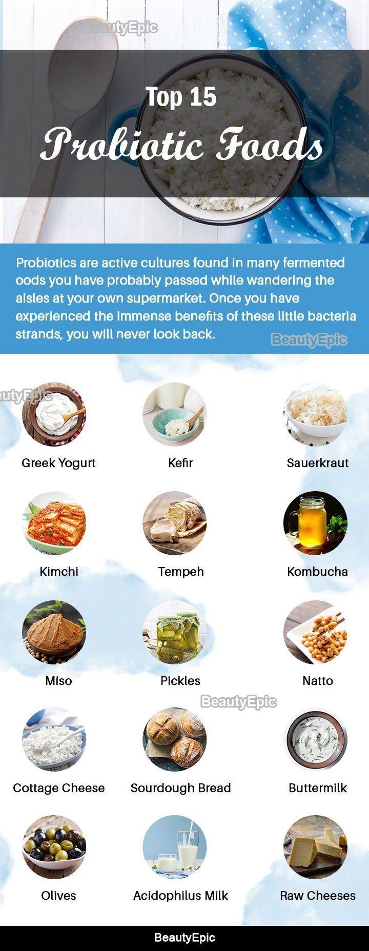 Top 15 Healthy Probiotic Foods For Your Gut Health Probiotic Foods Healthy Probiotics Probiotics