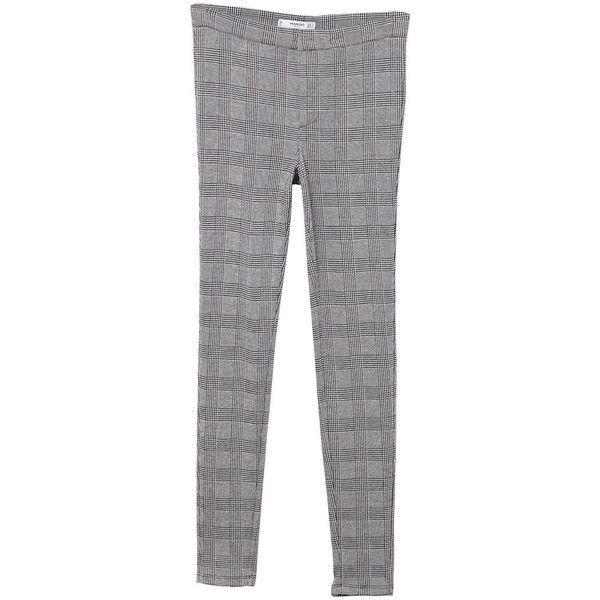 MANGO Check pattern leggings (2.300 RUB) ❤ liked on Polyvore featuring pants, leggings, checked pants, mango leggings, checkered pants, checkered leggings and legging pants