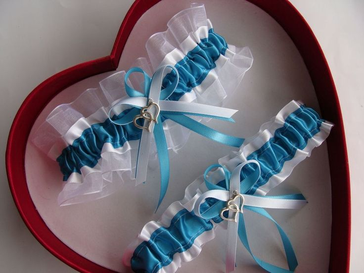 NEW Turquoise White Wedding Garter SELECT SingleSetRegPlus SizeCharm