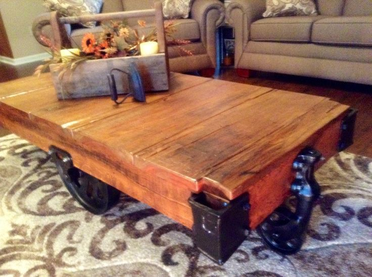 Industrial Lineberry Factory Cart Purchased In A Local Antique Shop. Loving  This As My Coffee Table.   Tables And Carts   Pinterest   Antique Shops, ...