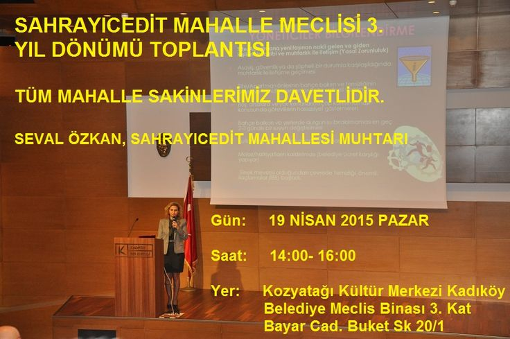 Sahrayıcedit Mahalle Meclisi 3. Yıl Dönümü - SAHRAYICEDİT MAHALLESİ - Seval Özkan