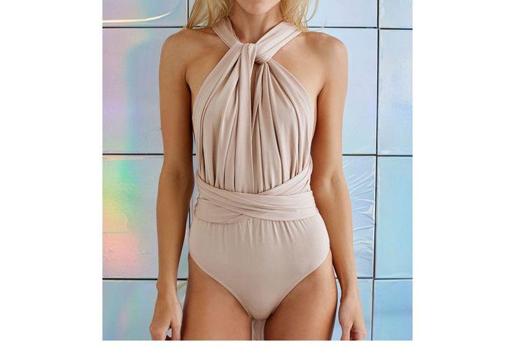 Aliexpress.com: Acheter Nude Body Femmes Barboteuses Elia Cher Marque 2016 Plus La Taille Casual Femmes Vêtements Chic Mode Sexy Lady Combinaisons Barboteuses 6917 de salopette blanc fiable fournisseurs sur Elia cher