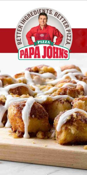 25% off Papa Johns Pizza with this coupon code