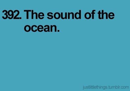 The sound of the ocean