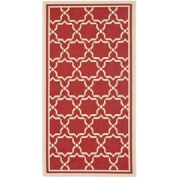 $19.00.  For the front entry. Safavieh Poolside Red/Bone Geometric Indoor/Outdoor Rug (2' x 3'7)
