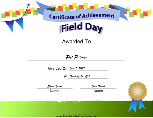 9 best School stuff images on Pinterest Field day, School stuff - free certificate of achievement