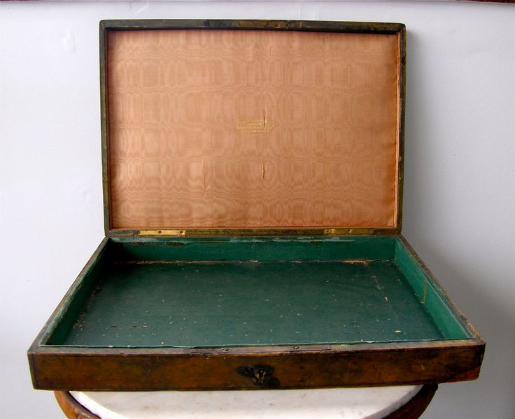 FRENCH HOMEOPATHIC CASE Box Remedies Tooled Green Leather over Wood Silk Lined Pharmacie Homeopathique Paris France 1780-1820 Free Shipping! by OnceUpnTym on Etsy
