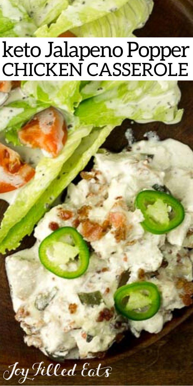 Keto Jalapeno Popper Auflauf – Low Carb, THM S, Gluten und Getreidefrei. Hähnchen…