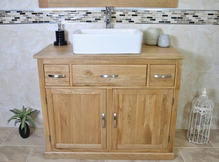Oak Top Unit Ceramic Basin Choice 1161CBC -