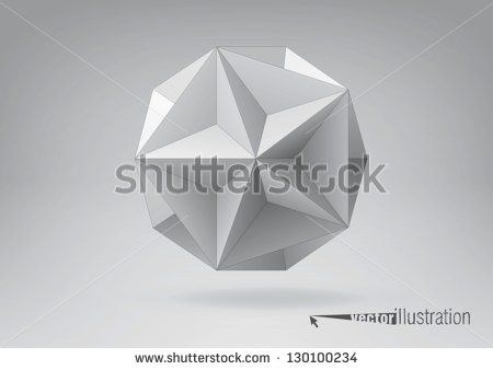 Great dodecahedron for your graphic design. You can change colors