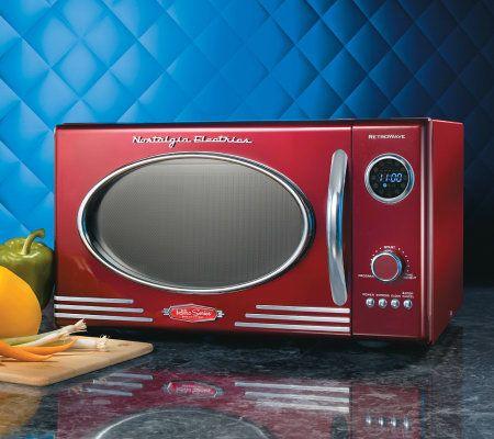 Nostalgia Electrics Retro Series 0.9 CuFt Red Microwave Oven