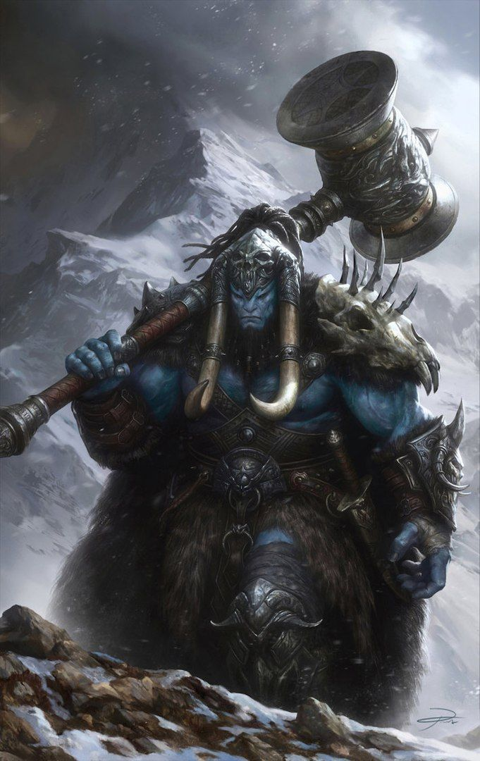 Ice-Vein Orcs are incredibly strong due to their harsh environment. They have stayed alive encamped between two large races through sheer strength. They raid what they want from dwarves and they hunt werewolves for sport. Young warriors must prove themselves by killing a werewolf and skinning its hide for a fur cloak.