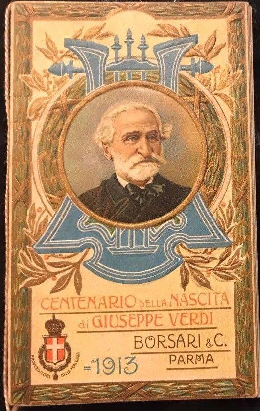 """Calendarietto del Barbiere """"Centenario Giuseppe Verdi"""" anno 1913, splendido - 15"""