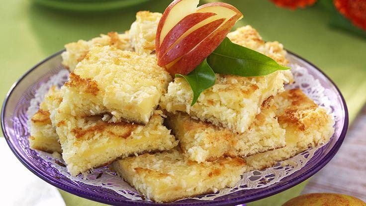 Recept glutenfria kokos- och äppelrutor