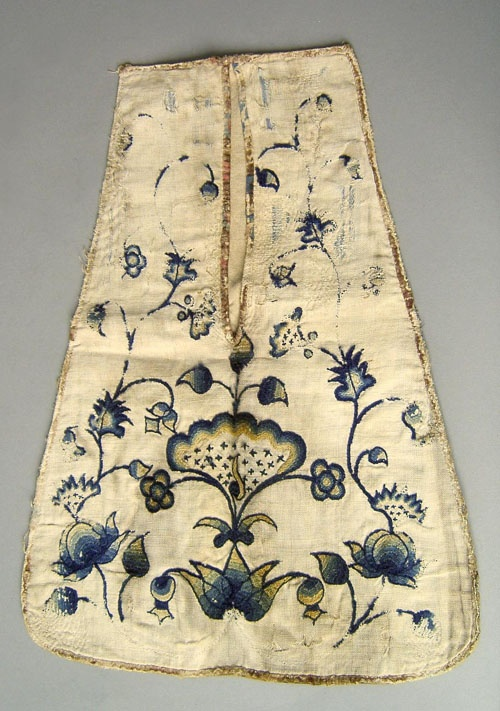 early embroidered pocket
