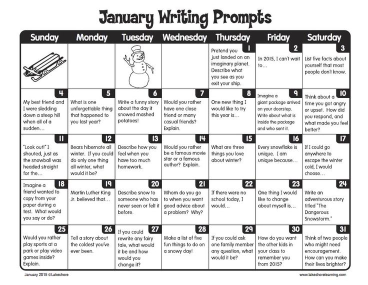 calendar writing prompts Intermediate journal calendar busy teacher's cafe wwwbusyteacherscafecom monday tuesday wednesday thursday friday 2 if your friend told you of.