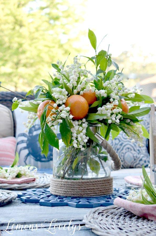 Simple Summer Table Decor, greta for #FathersDay From: Joyful Summer Home Tour www.lemonstolovelys.com
