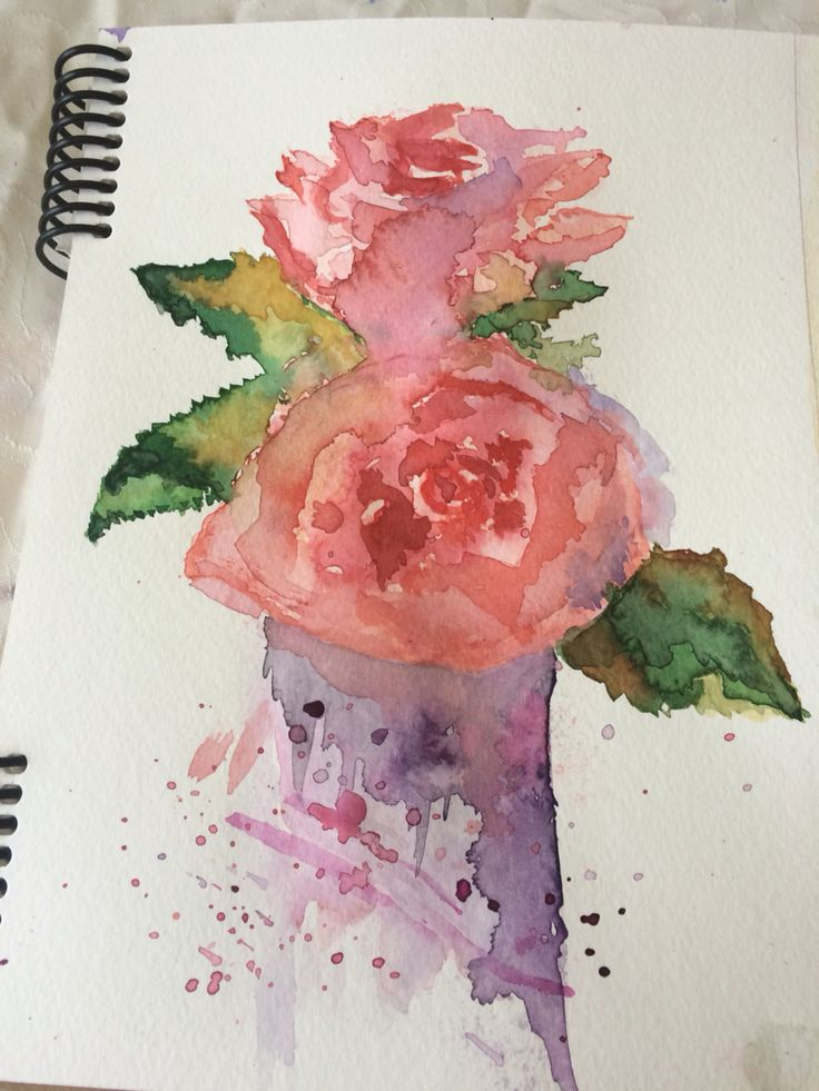 watercolor painting roses