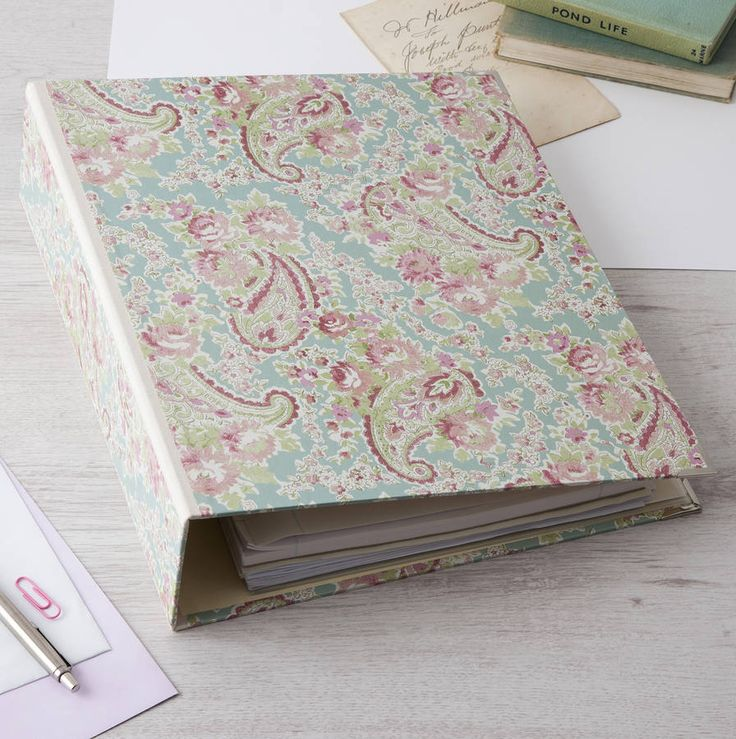 Our unique Vintage Paisley lever arch files are individually handmade to order and can be personalised. Whether it is in your office or home study everybody's paperwork needs organising and this beautiful file does it with style. This personalised lever arch file is very useful for a food lover to file all their loose recipes in. affiliate link noths