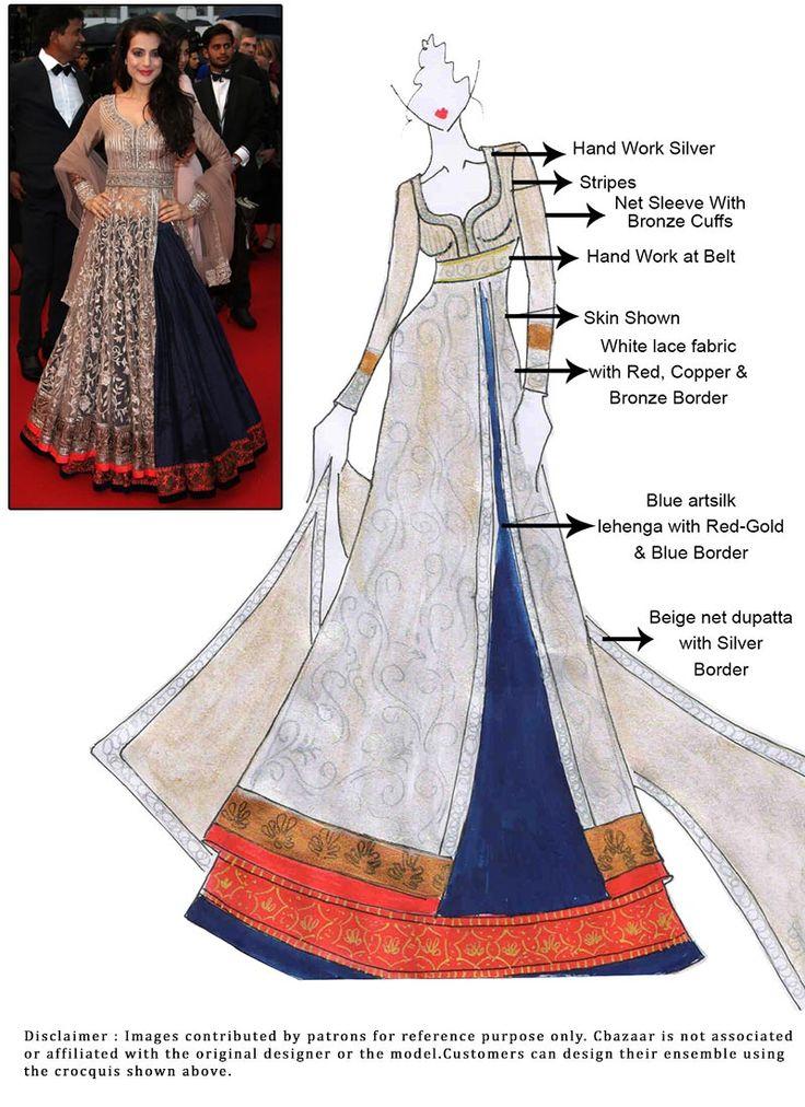 DIY Ameesha Patel Long Choli Lehenga