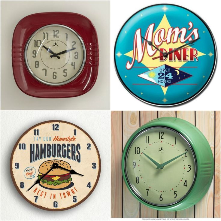 Have you ever noticed that diners have the coolest clocks? From whimsical phrases to clocks with neon lights, diners have mastered the art of telling time. If you're looking to step back in time with a more classic option, a trademark red diner clock never fails.