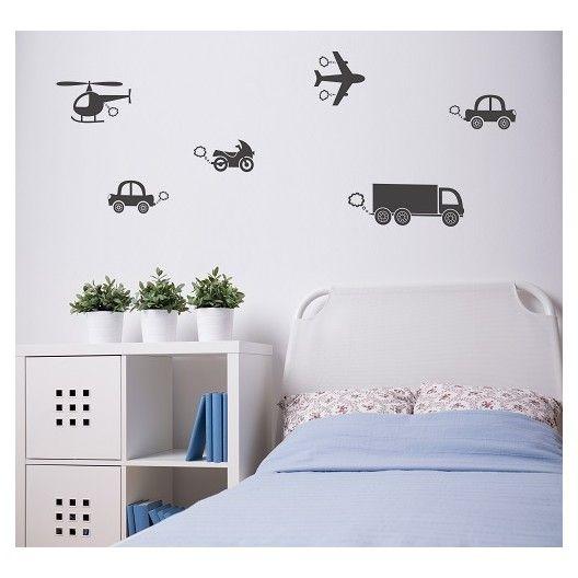 Detske nalepky na stenu s motivom dopravnych prostriedkov