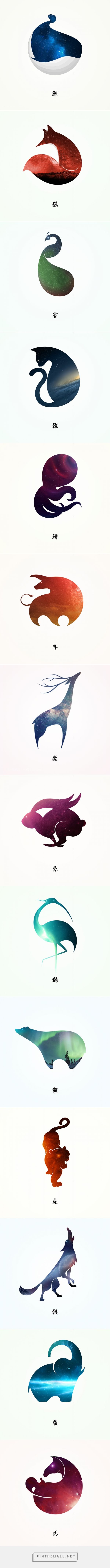 Starry Animals by XuDong He | Fivestar Branding Agency – Design and Branding Agency & Curated Inspiration Gallery