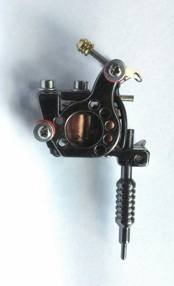 Miniature Tattoo Gun Pendant Necklace by MemoriesByMeister on Etsy, $13.65